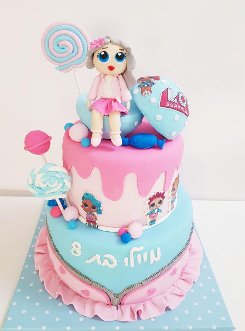 LOL עוגה מבצק סוכר
