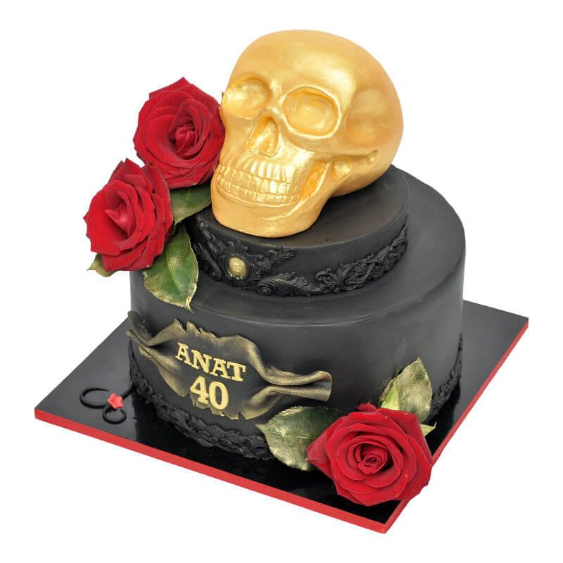 עוגה מיוחדת בעיצוב גולגולת