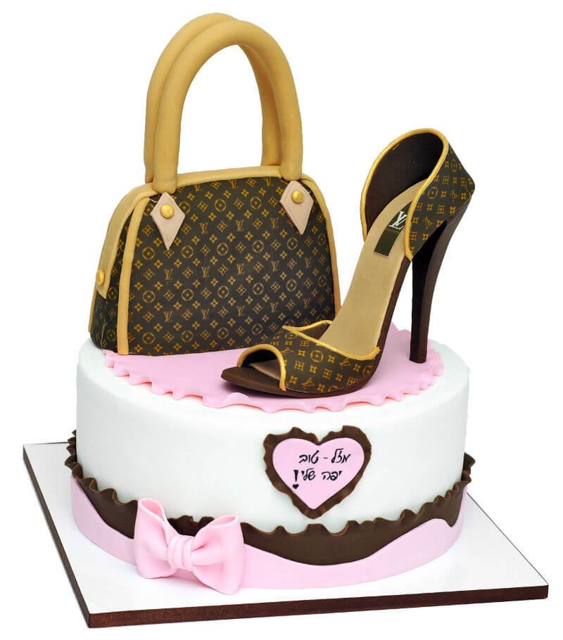עוגה מיוחדת לואי ויטון מבצק סוכר