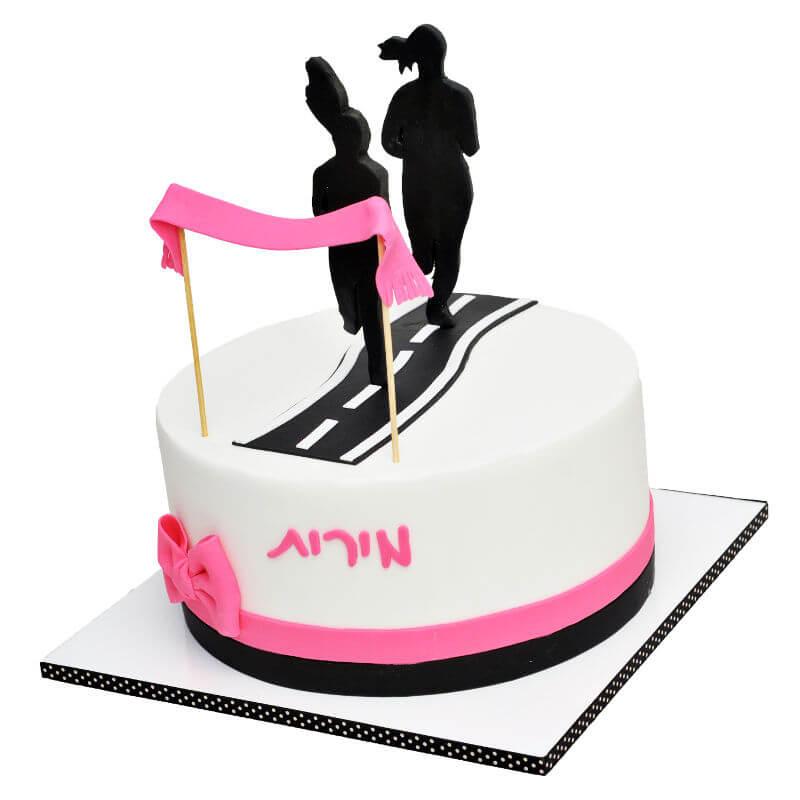עוגה מיוחדת בעיצוב מרתון
