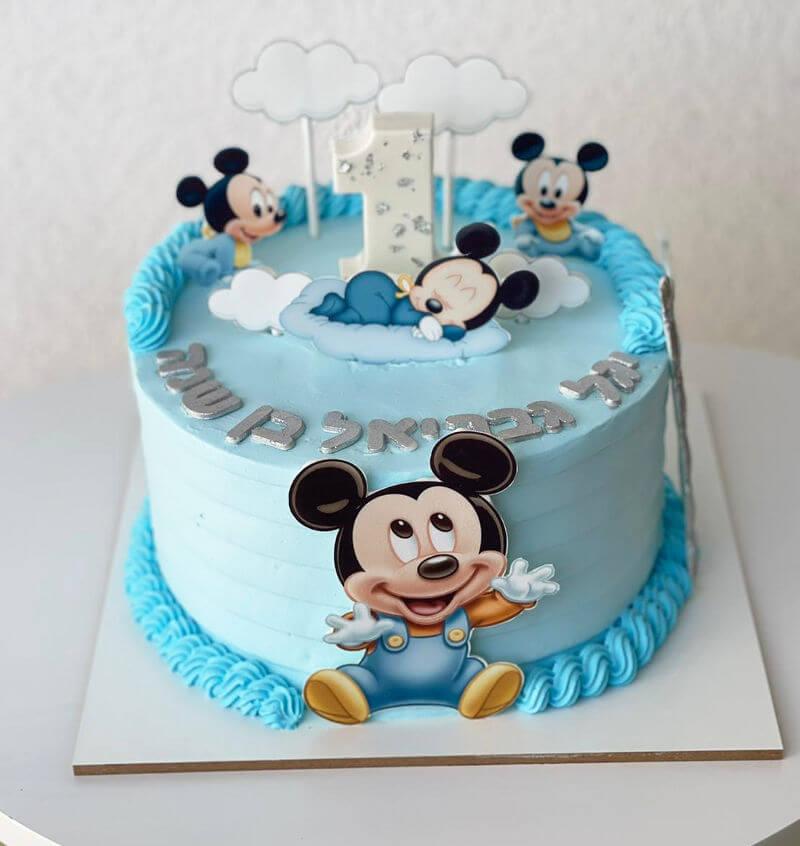 עוגה מיקי מאוס בייבי