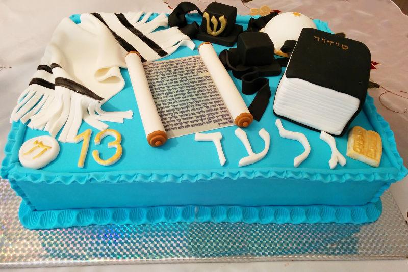 עוגה מלבנית לבר מצווה