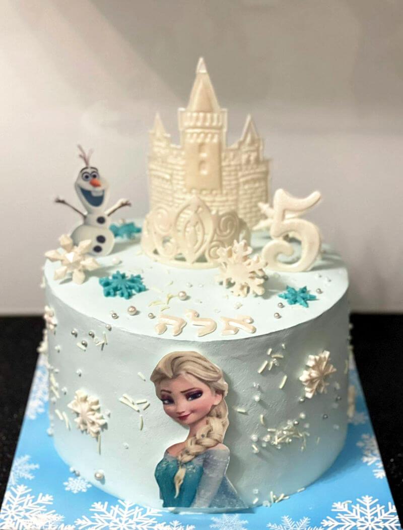 עוגה מעוצבת אלזה