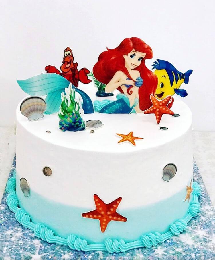 עוגה מעוצבת בת הים