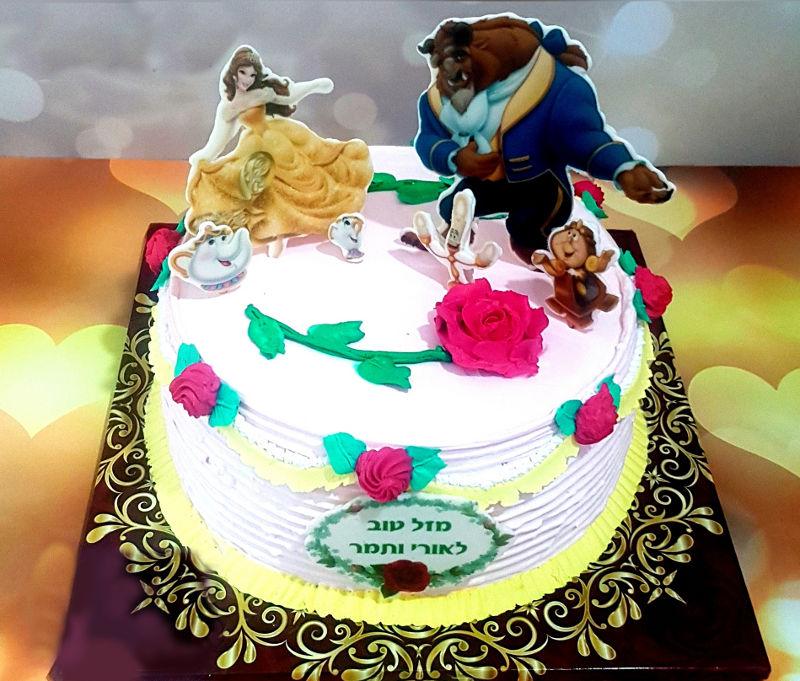 עוגה מעוצבת היפה והחיה