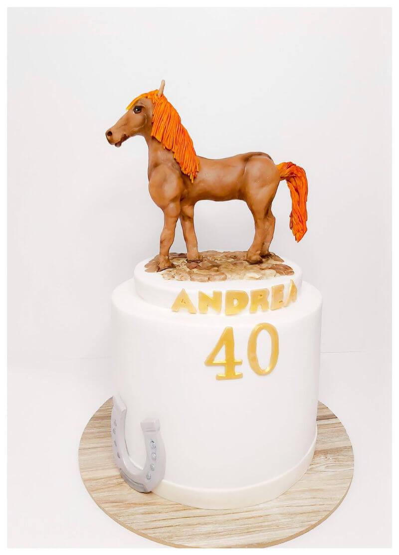 עוגה מעוצבת חיות עם סוס