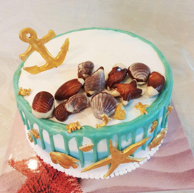 עוגה מעוצבת ים