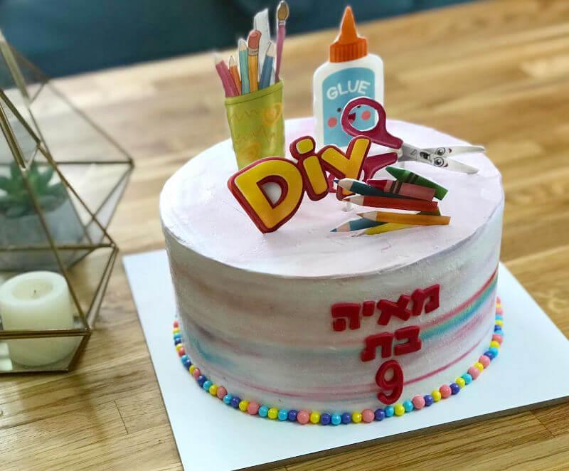 עוגה מעוצבת יצירה
