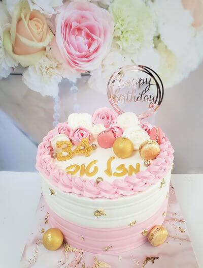 עוגה מעוצבת לאשה בספא
