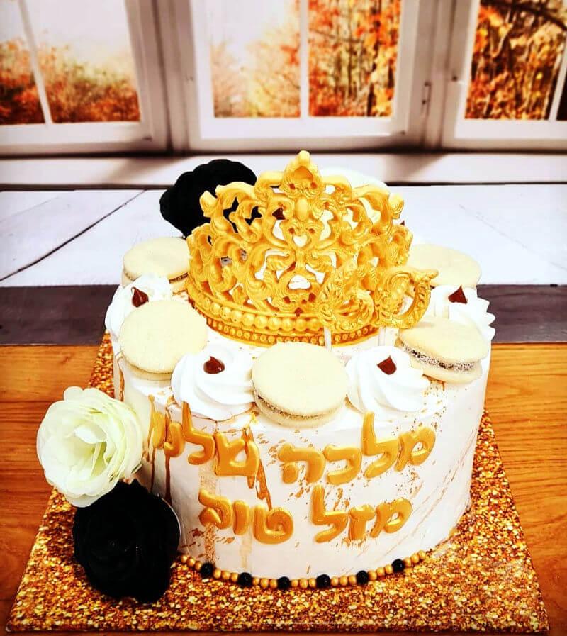עוגה מעוצבת לאמא המלכה שלנו עם כתר