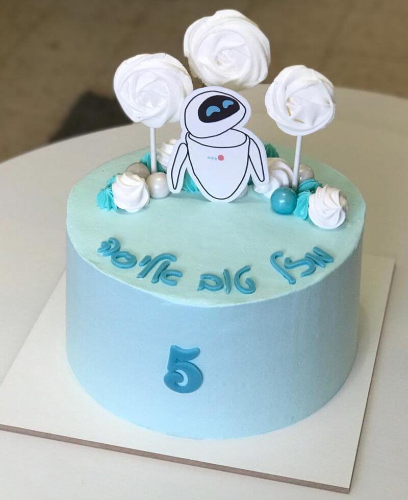 עוגה מעוצבת לבן ללא גלוטן