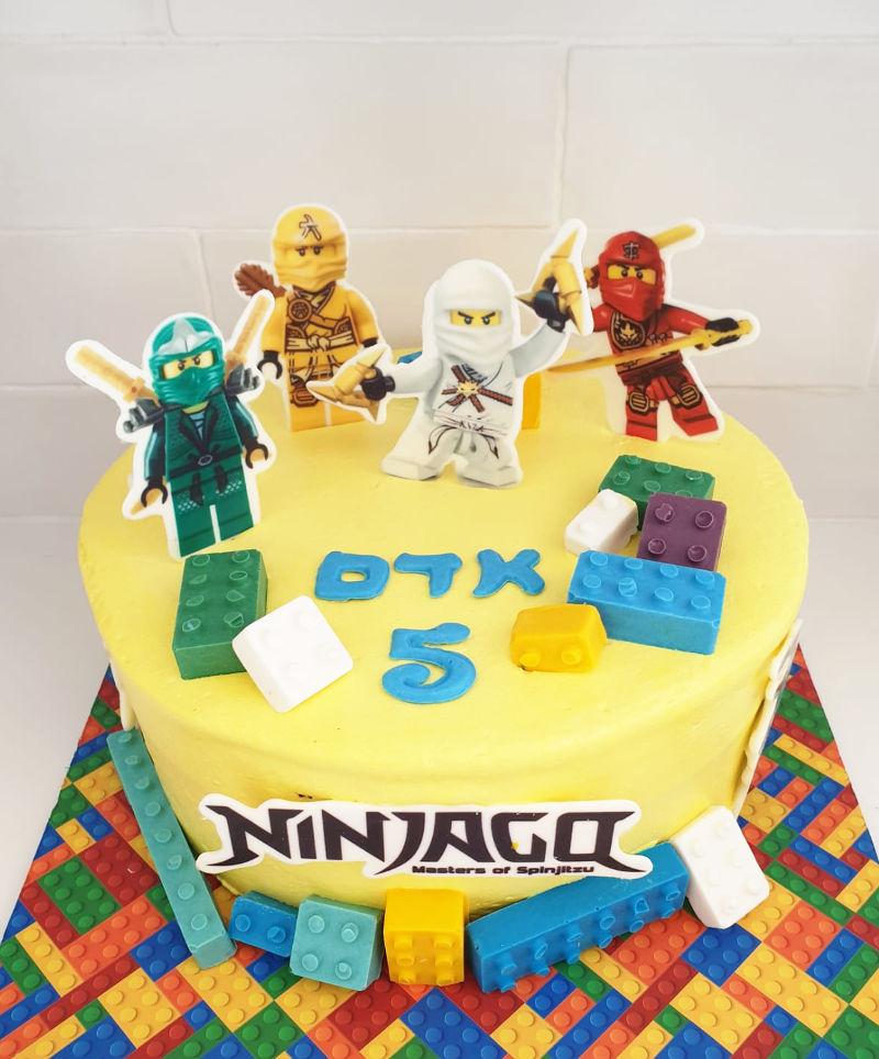 עוגה מעוצבת לגו נינגגו