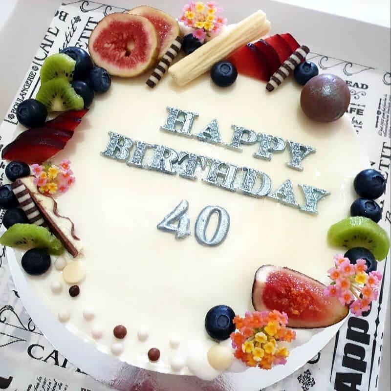 עוגה מעוצבת לגיל 40