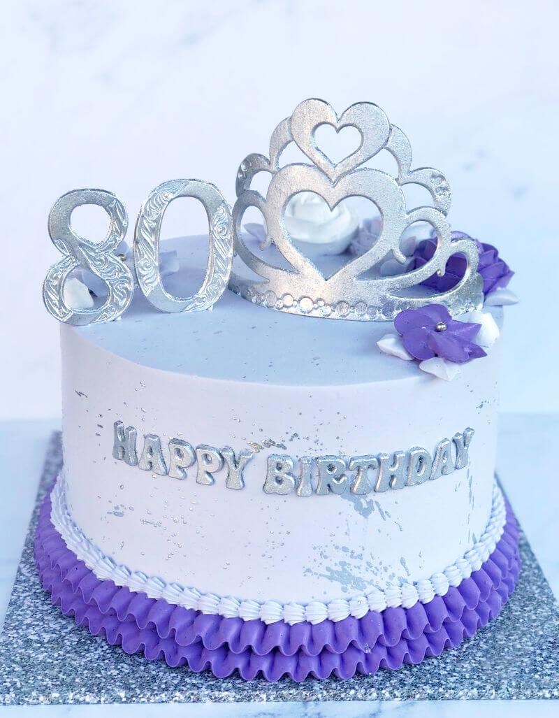 עוגה מעוצבת לגיל 80