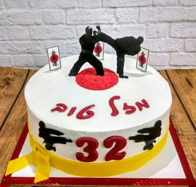 עוגה מעוצבת למבוגרים לחימה