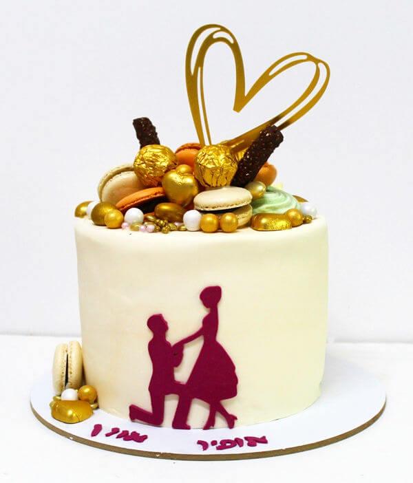 עוגה מעוצבת ליום הנישואין