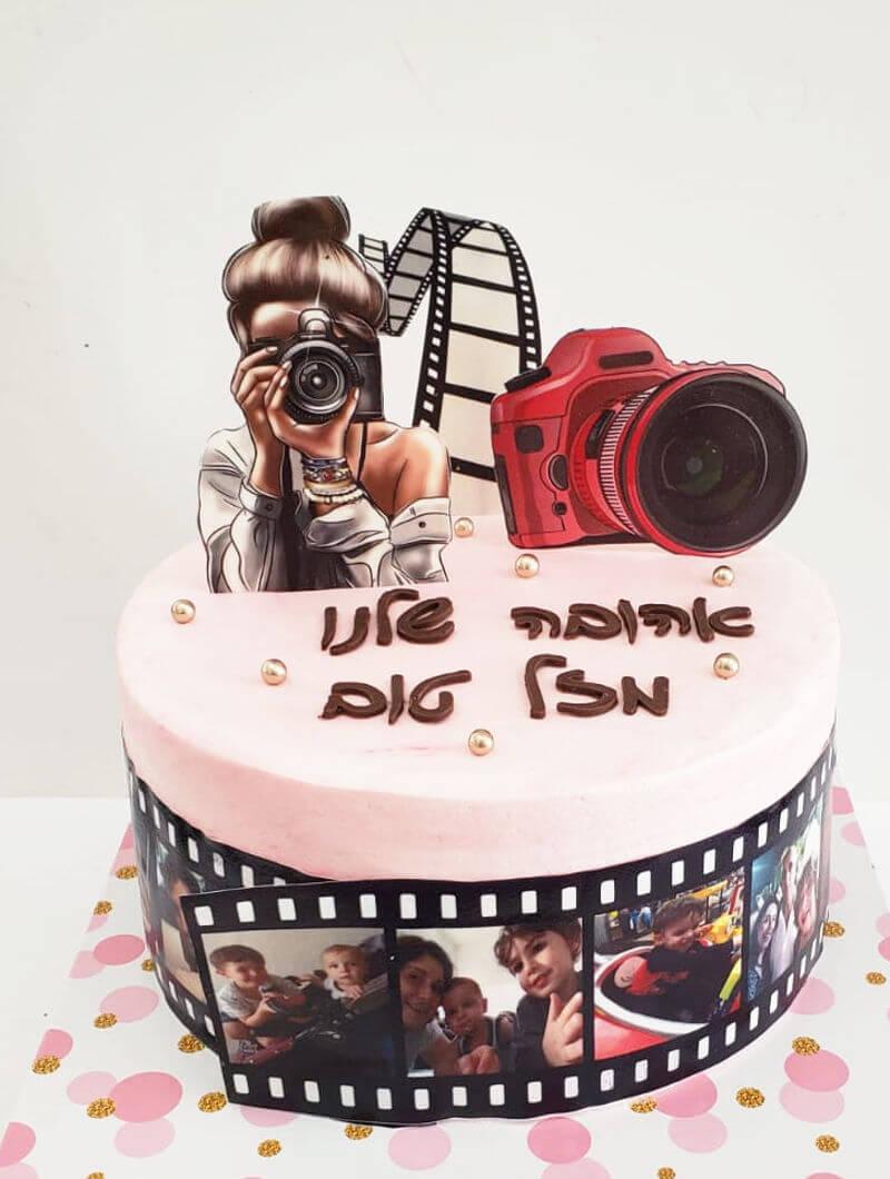 עוגה מעוצבת לצלמת