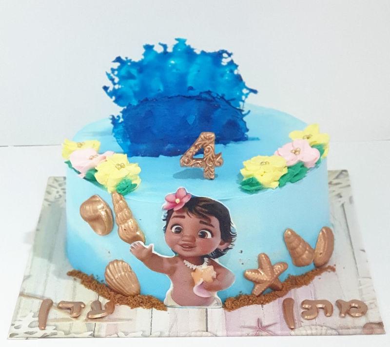 עוגת מעוצבת מואנה
