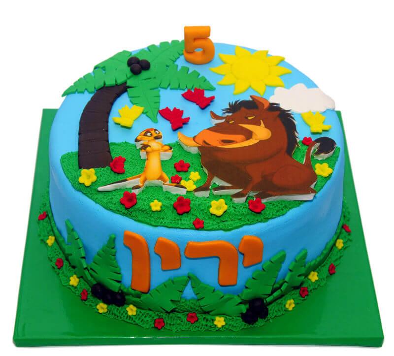 עוגה מעוצבת מלך האריות