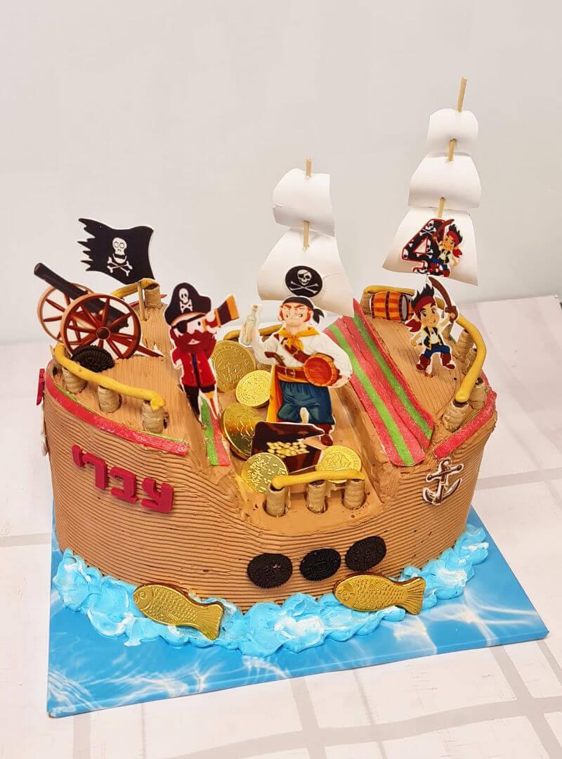 עוגה מעוצבת ספינת פיראטים