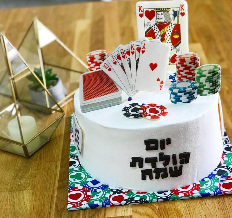 עוגה מעוצבת פוקר