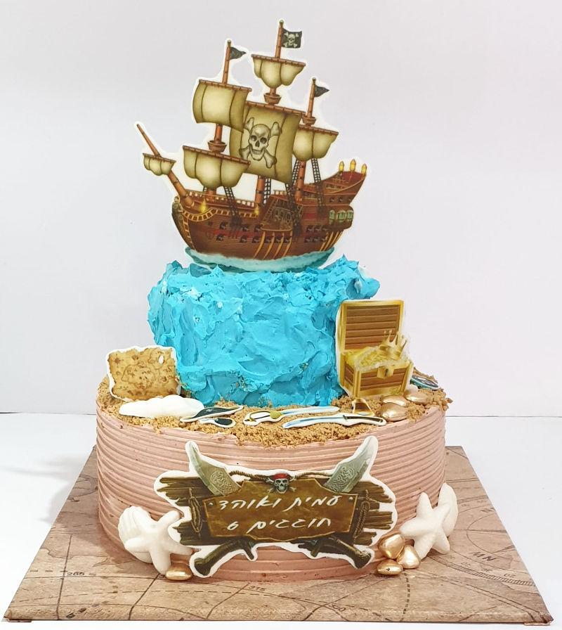עוגה מעוצבת פיראטים
