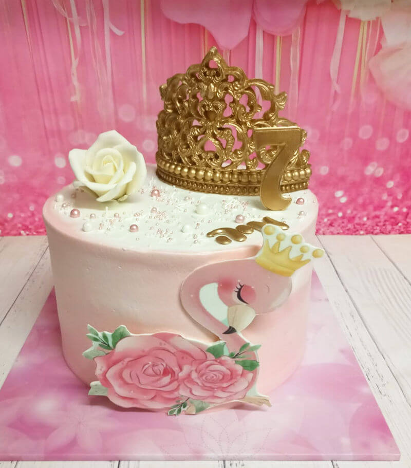 עוגה מעוצבת פלמינגו פרווה