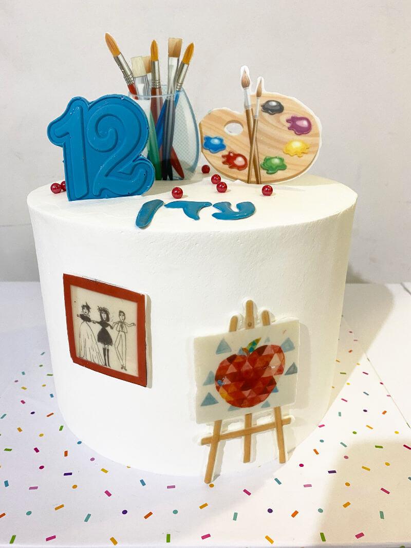 עוגה מעוצבת ציור ואומנות