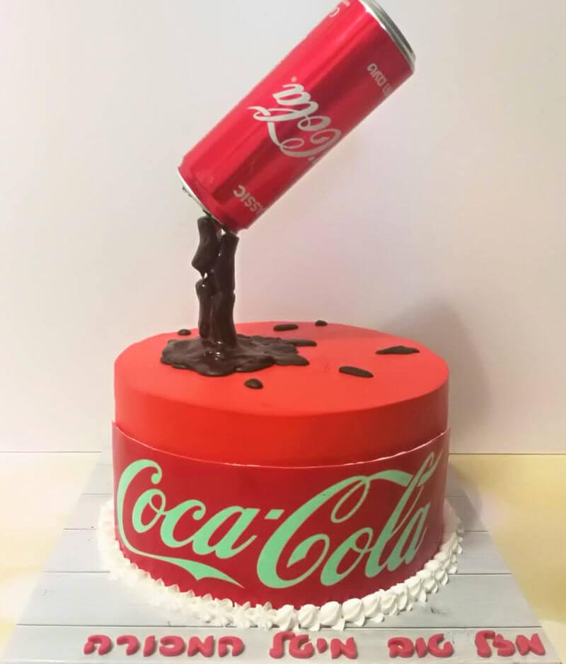 עוגה מעוצבת קוקה קולה