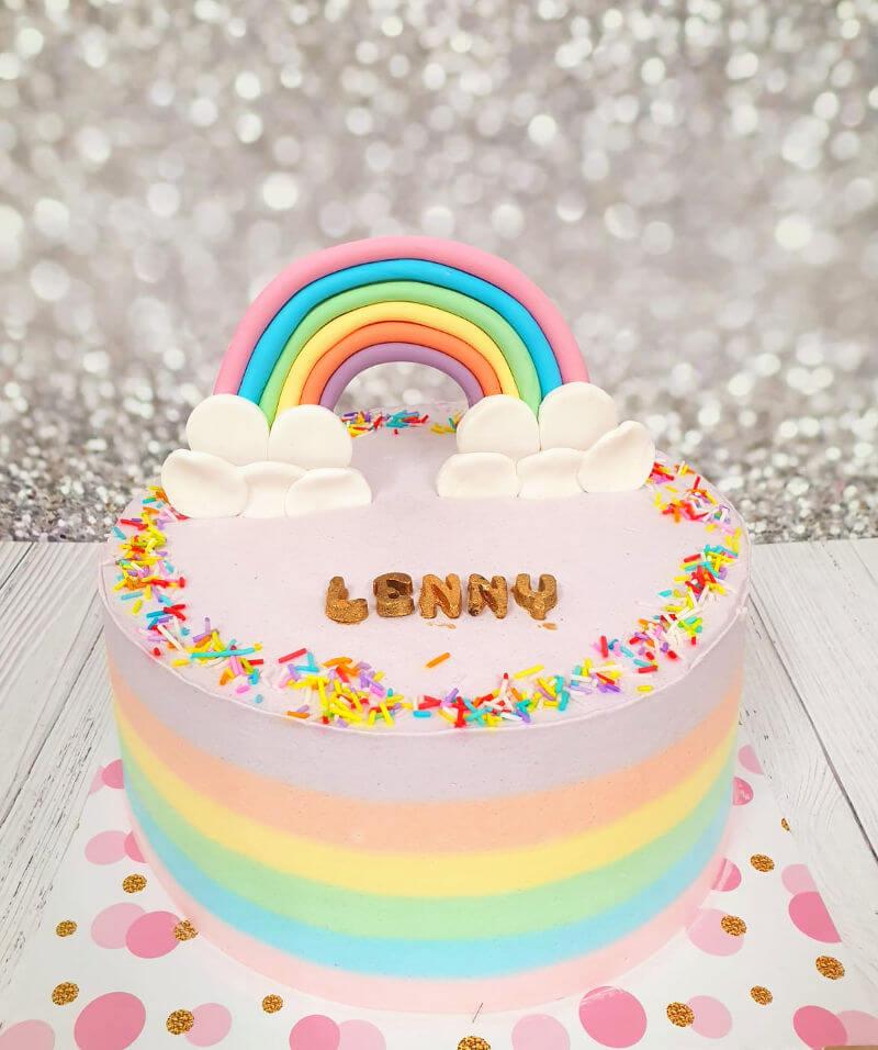 עוגה מעוצבת קשת בענן
