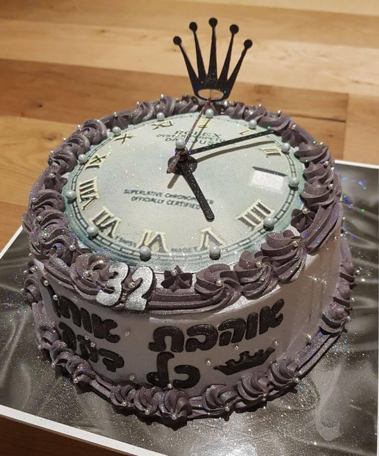 עוגה מעוצבת שעון רולקס