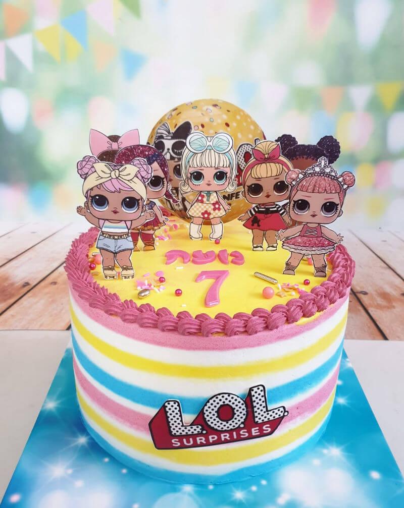 עוגה מעוצבת בובות לול LOL