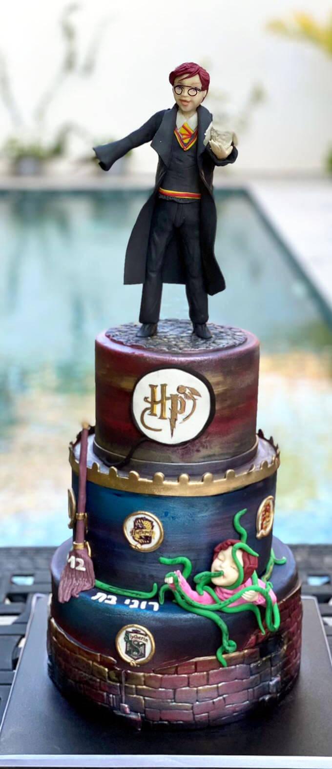 עוגה מפוסלת הארי פוטר