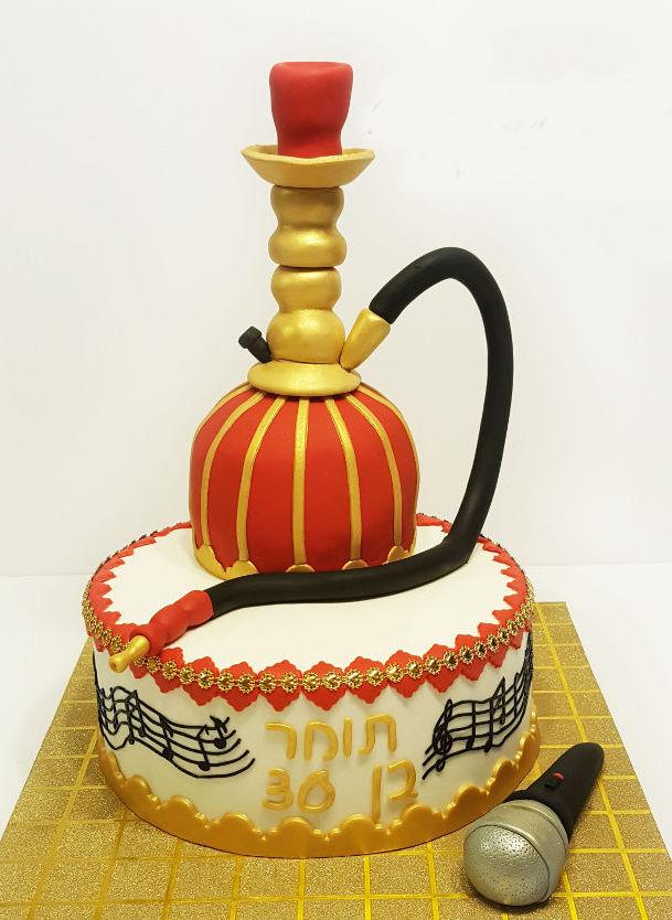 עוגת יום הולדת נרגילה