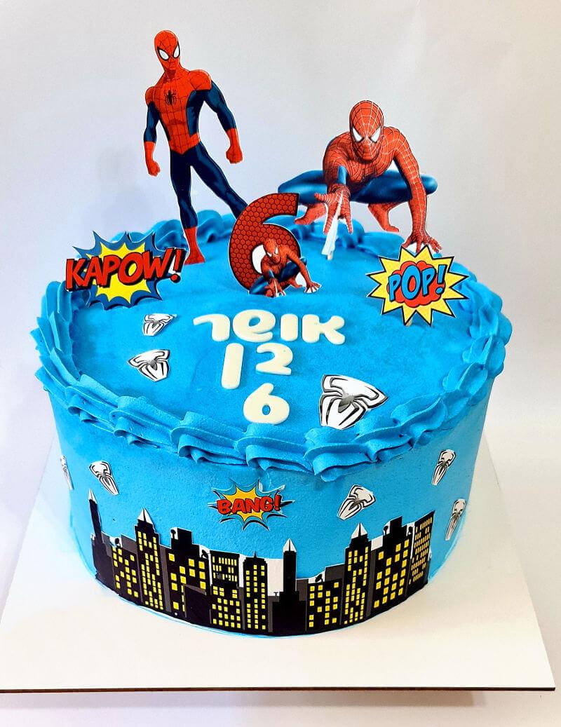 עוגה ספיידרמן