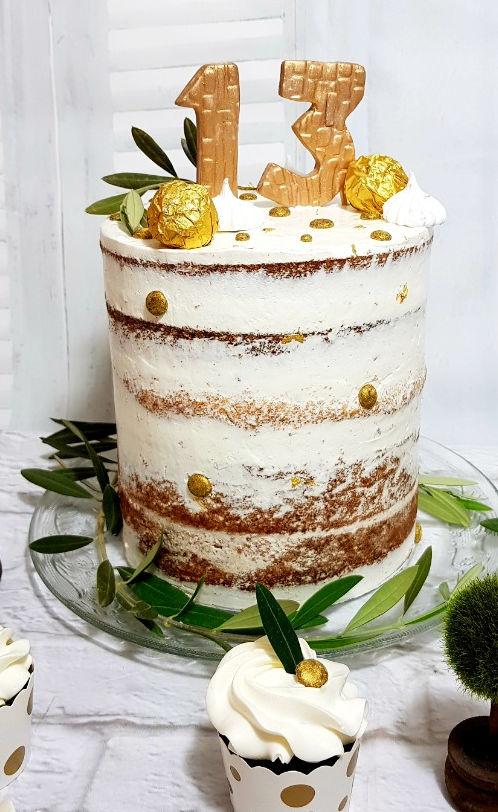 עוגה עירומה לבר מצווה
