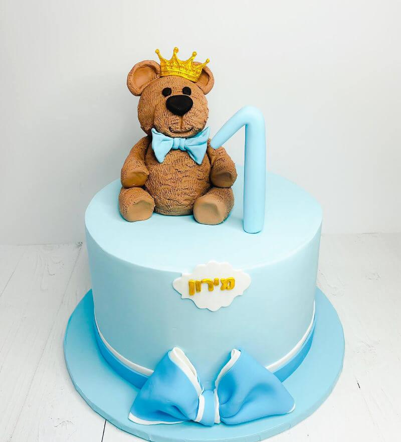 עוגה עם דובי לגיל שנה