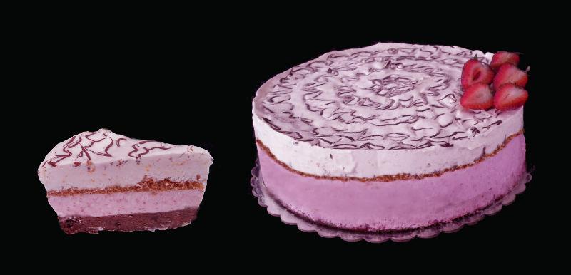 עוגה מוסים עם פרוסה