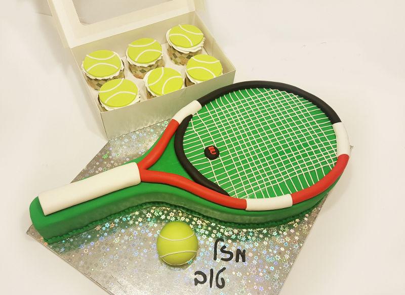 עוגת יום הולדת טניס