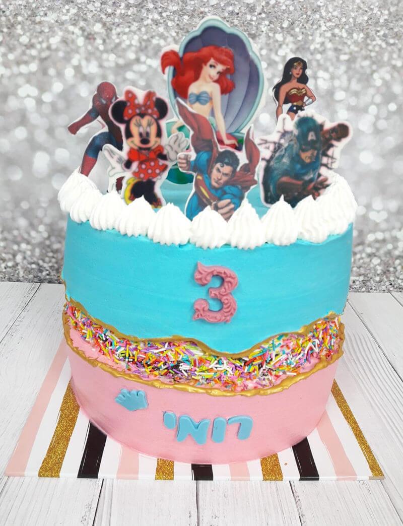 עוגה חדשה לילדים Fault-Line Cake