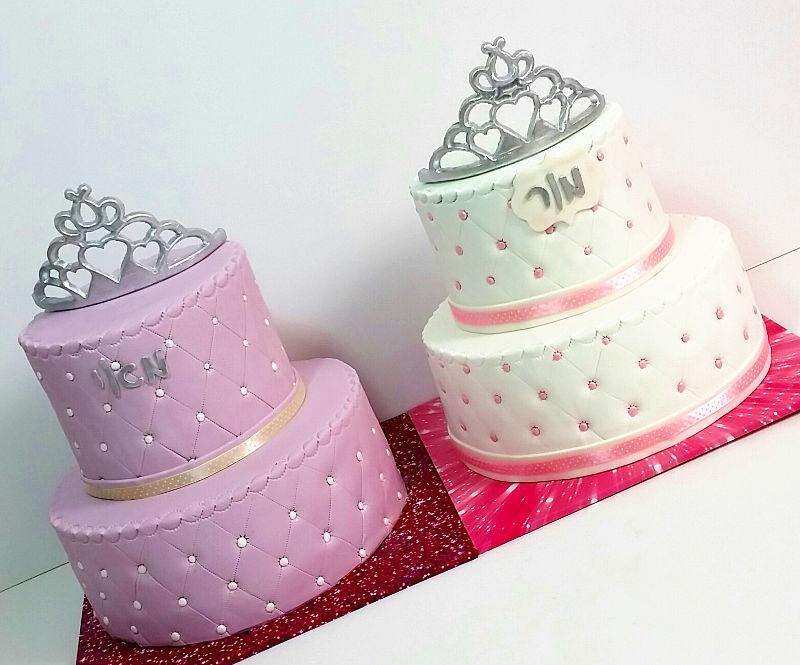 עוגות בת מצווה תאומות