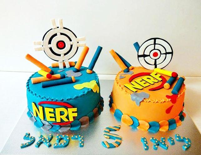 NERF עוגות נרף מבצק סוכר