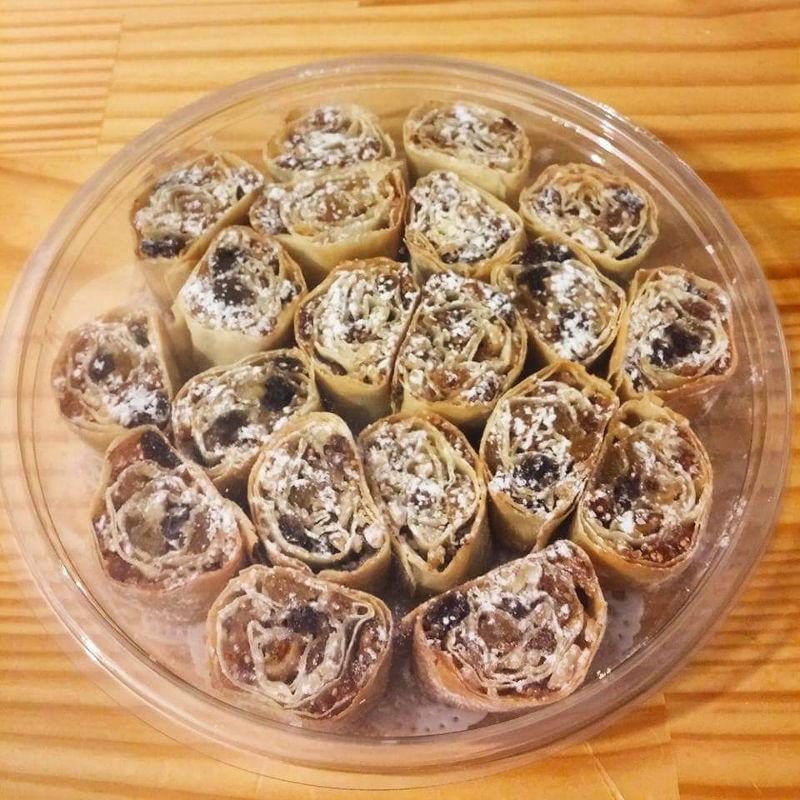 עוגיות מגולגלות פירות יבשים