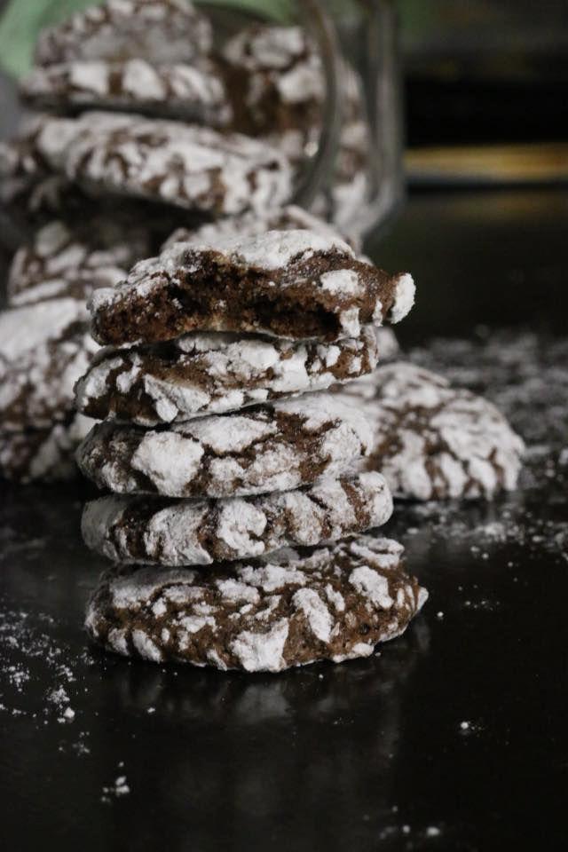 עוגיות מושלגות מתפוצצות שוקולד