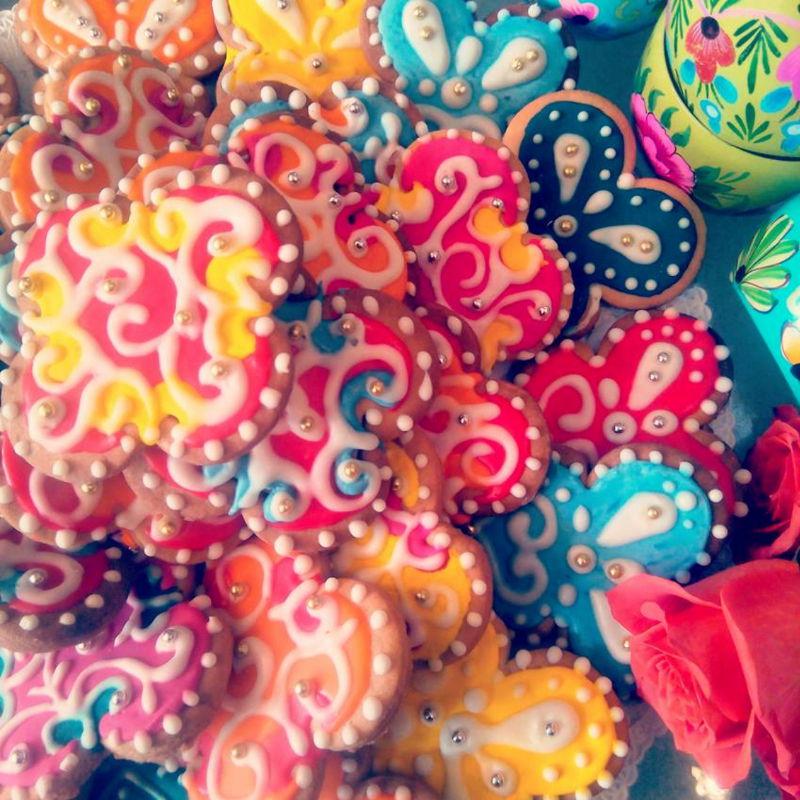 עוגיות מעוצבות צבעוניות