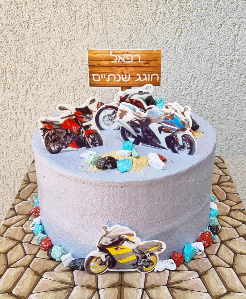 עוגת אופנועים ליום הולדת