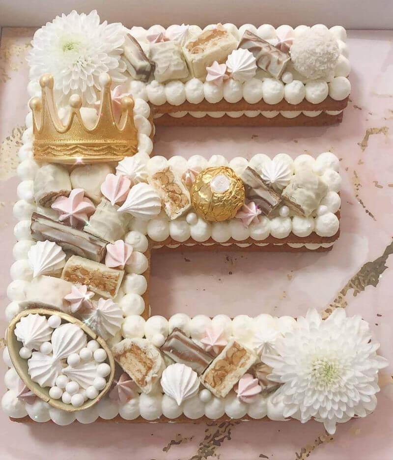 עוגת אותיות באנגלית