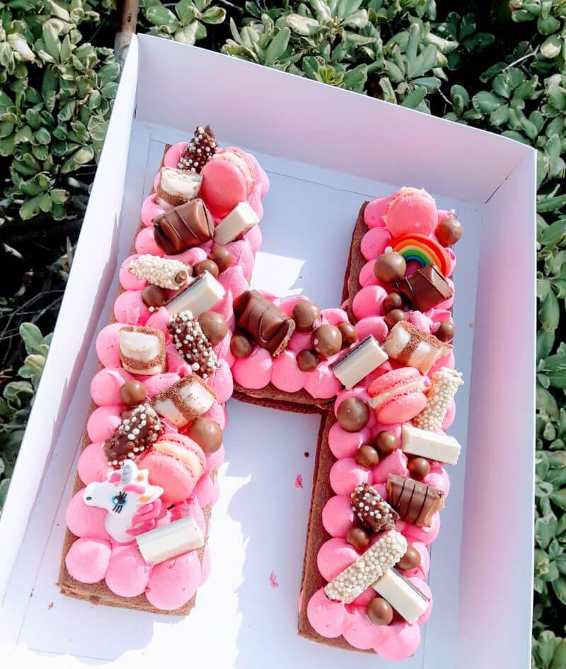 עוגת חד קרן ורודה