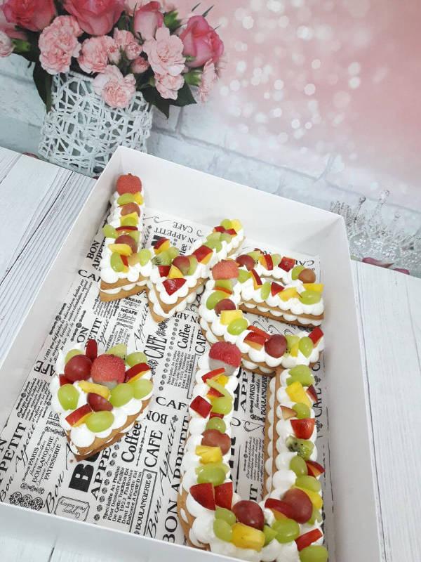 עוגת אותיות ליום האהבה