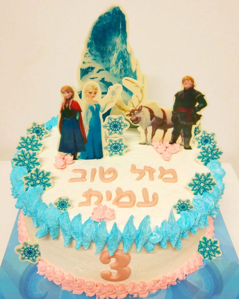 עוגת אלזה ואנה מעוצבת